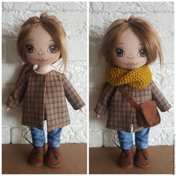 красивое пальто для куклы