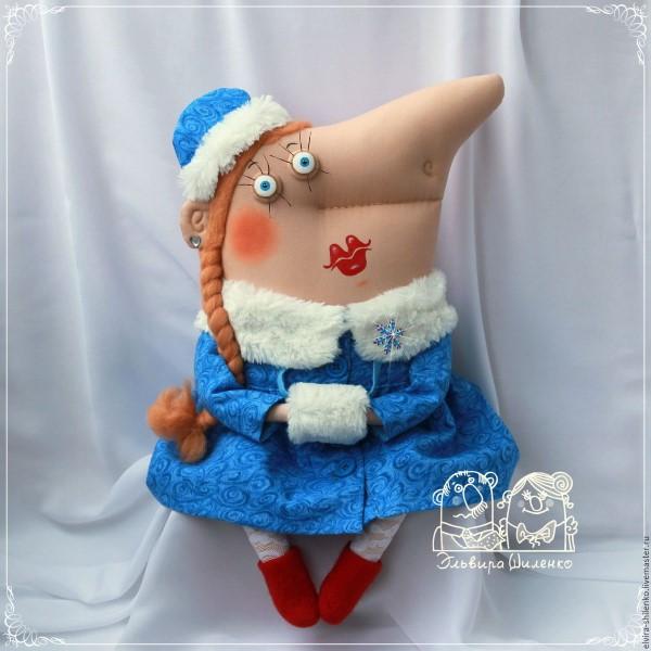 кукла из ткани снегурочка