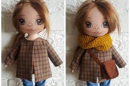 МК от Елизаветы Титовой: пальто для куклы со складкой