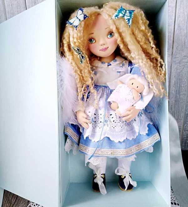 кукла в стиле грунтованный текстиль