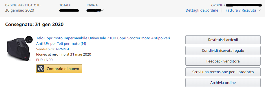 Ordine Amazon