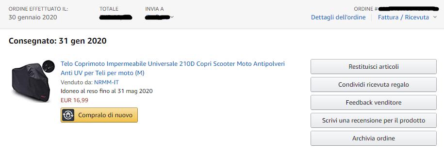 Ordine Amazon