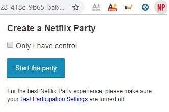 Netflix Party estensione