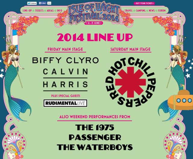 isle of wight lineup