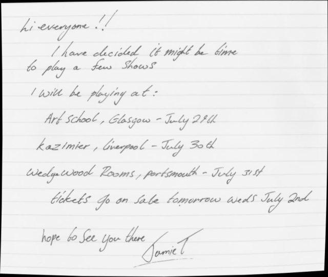 Jamie T note