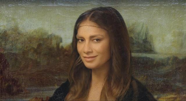 william mona liza smile nicole-scherzinger-louvre