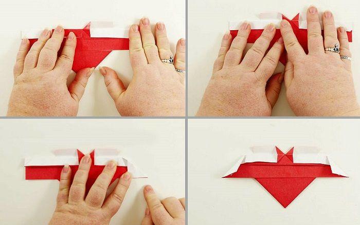 Καρδιά origami με φτερά: Βήματα 13-16