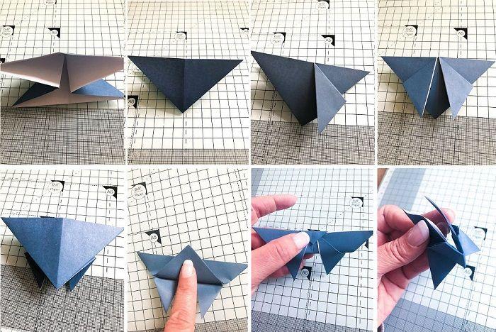 Бабочка оригами: этапы складывания 9-16
