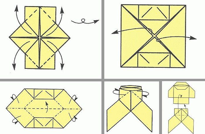 Нинджа фигурасы: бүктеу кезеңдері 7-10