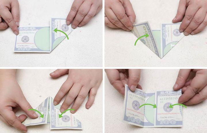 Қолма-қол банкноттардан оригами-тасбақа