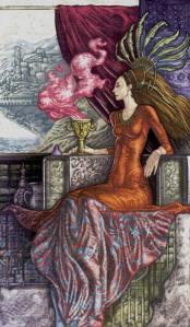 Таро Царство Фэнтези изображение Королева Кубков
