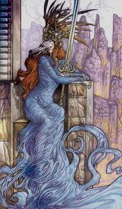Таро Царство Фэнтези изображение Королева Мечей