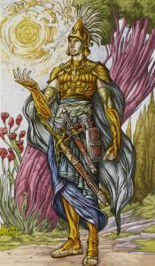 Таро Царство Фэнтези изображение Паж Пентаклей
