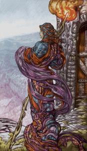 Таро Царство Фэнтези Изображение с карты Отшельник