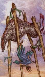 Таро Царство Фэнтези Изображение с карты 4 Жезлов