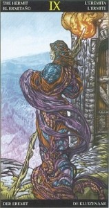 Таро Царство Фэнтези аркан 9 Отшельник