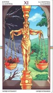 Таро Колесо Года Старший Аркан 11 Справедливость