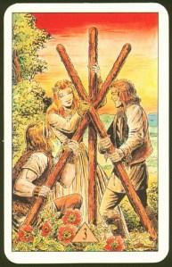 Таро Зеркало Судьбы изображение аркана 3 Жезлов
