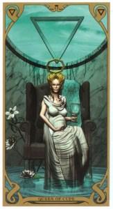 Королева кубков Таро Ночного Солнца