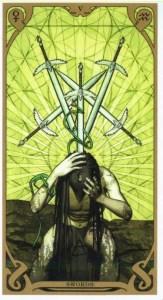 5 мечей Таро Ночного Солнца