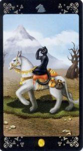 Рыцарь пентаклей Таро Черных Котов