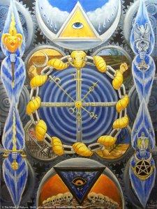 Аркан 10 Колесо Фортуны The Golden Serpent Tarot