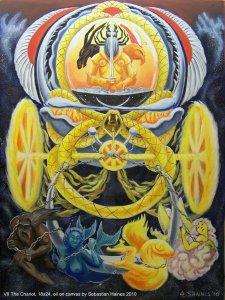 Аркан 7 Колесница The Golden Serpent Tarot