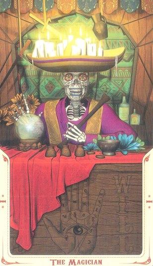 1 Маг (The Magician) Таро святой смерти (Santa Muerte Tarot)