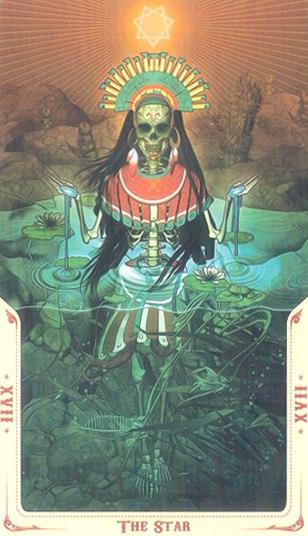 17 Звезды (The Star) Таро святой смерти (Santa Muerte Tarot)