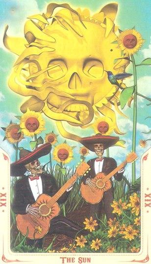 19 Солнце (The Sun) Таро святой смерти (Santa Muerte Tarot)