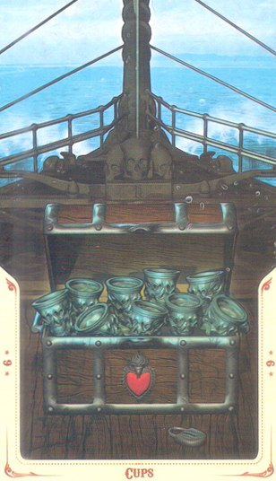 9 Кубков Таро святой смерти (Santa Muerte Tarot)