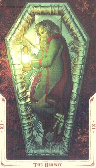 9 Отшельник (The Hermit) Таро святой смерти (Santa Muerte Tarot)