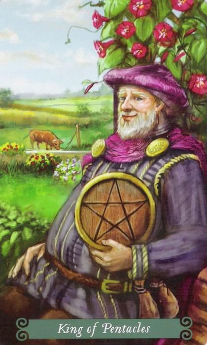 Король Пентаклей Таро Зеленой Ведьмы The-Green-Witch-Tarot