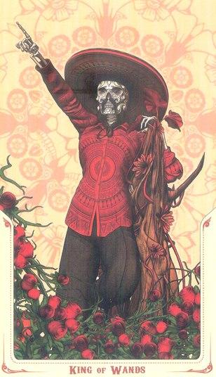 король Жезлов Таро святой смерти (Santa Muerte Tarot)