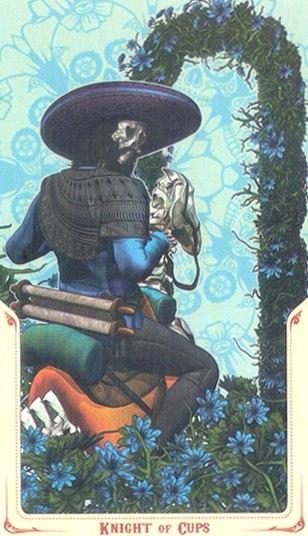 рыцарь Кубков Таро святой смерти (Santa Muerte Tarot)