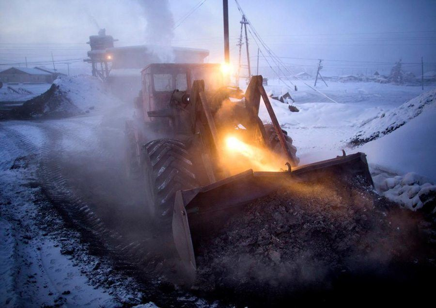 coldest city coal tractor