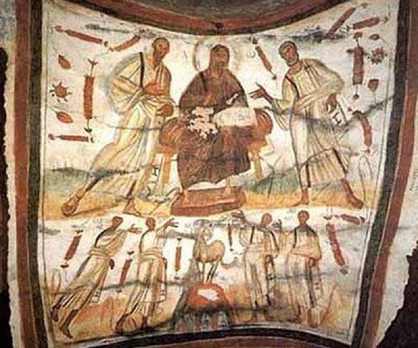 White Jesus Constantine Fresco