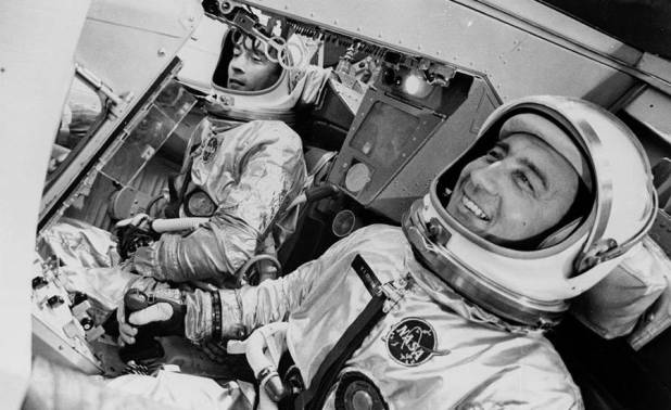 """John Young and Virgil """"Gus"""" Grissom on the Gemini 3"""