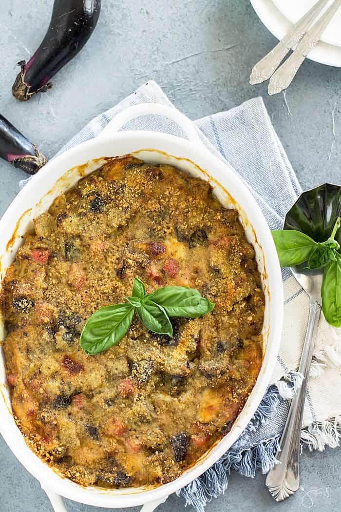 Fresh out of the oven - Italian eggplant pasticcio casserole recipe
