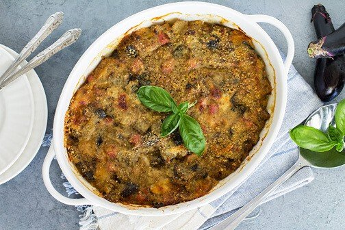 Eggplant Pasticcio Casserole with Ham & Cheese   All that's Jas