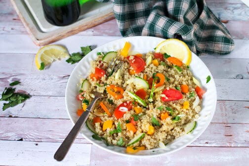 The Best Greek-Style Quinoa Salad