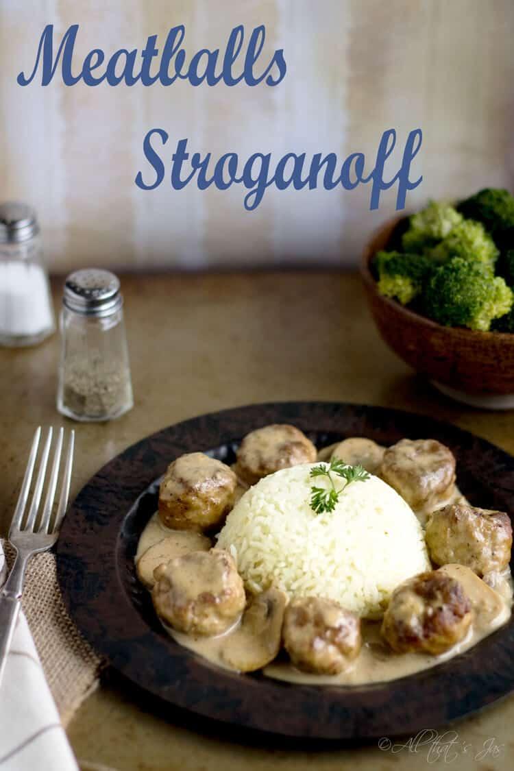 Meatballs Stroganoff - All that's Jas