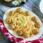 Cufte, Bosnian style meatballs, main dish, spaghetti, beef, entree