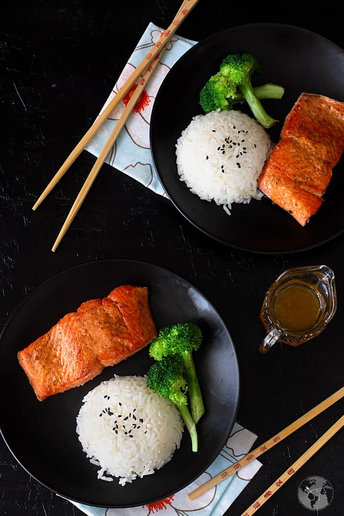 Dinner done in 10 minutes with this pan-fried salmon recipe.