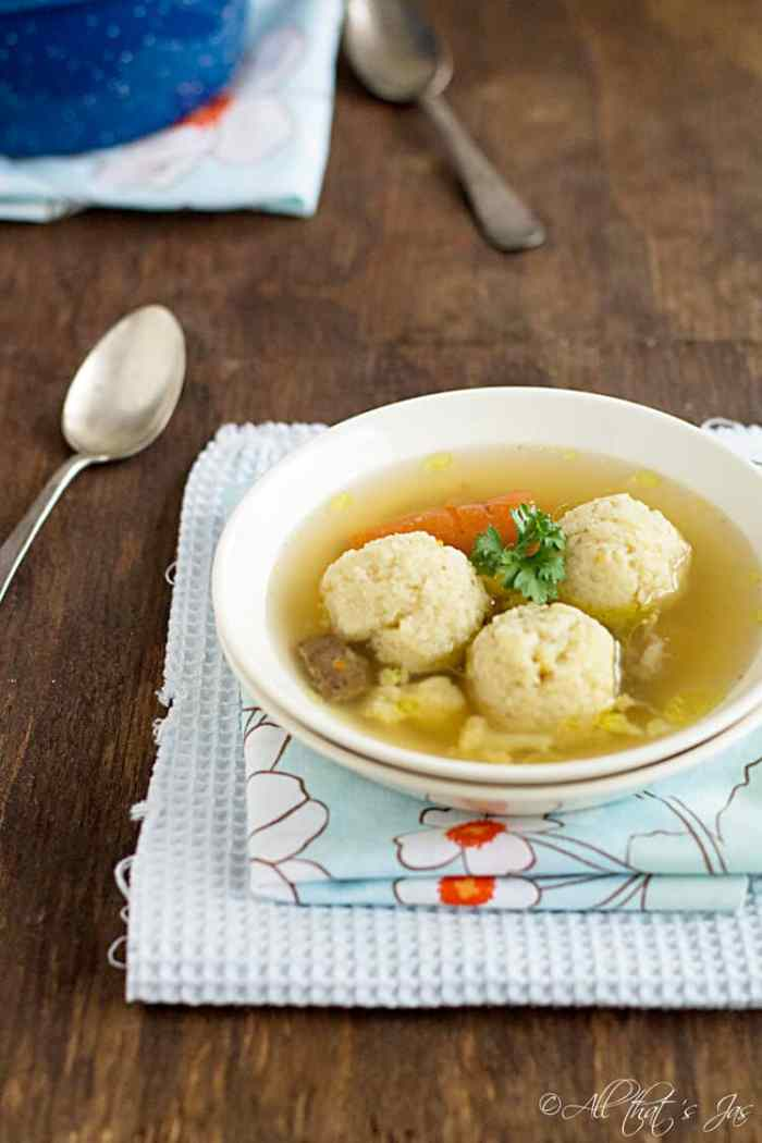 Beef Soup with Semolina Dumplings - All that's Jas