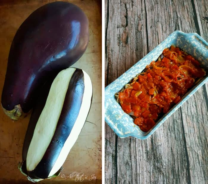 Eggplant with garlic yogurt sauce - All that's Jas
