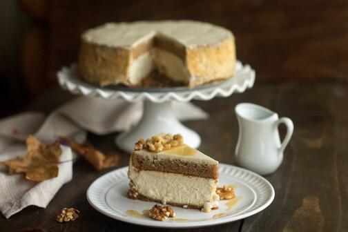 Layered Maple Cheesecake