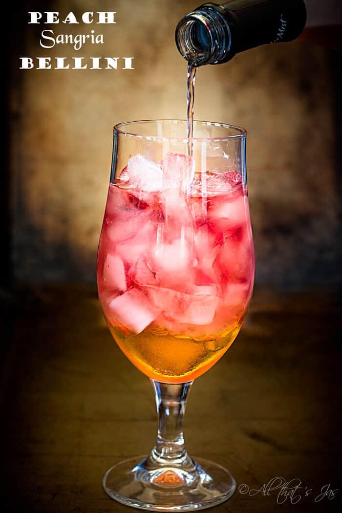 Peach Sangria Bellini - All that's Jas