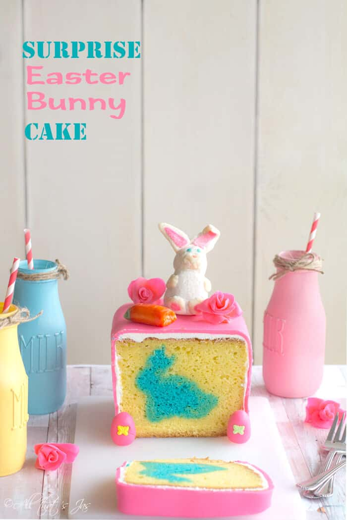 Surprise Easter Bunny Cake - All that's Jas