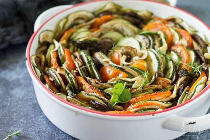 Tian Provençal vegetable bake - All that's Jas